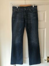 """Ladies 7 For All Mankind Bootcut Jeans Size 32 34"""" Leg"""