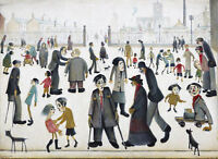 Framed LS Lowry Print – The Cripples (Picture Painting English Artist Artwork)