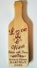 Love & Wine Better with Time Personalized Wine bottle shape Maple Cutting Board