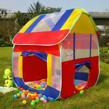 Kids Play Tent Tunnel House In/Outdoor Portable Foldable Children Gift Game Ten