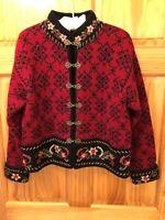 ICELANDIC DESIGN 100% Wool Fully Lined Multicolor Sweater - Women's Size Medium