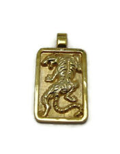 NEW!! Tiger Pendant For Men Yellow Gold !!