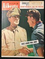 LIBERTY Magazine  Sep 1942 - DOUGLAS MACARTHUR / Lyman Anderson Cover / Ducky