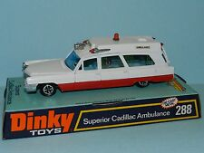 DINKY TOYS 288 SUPERIOR CADILLAC AMBULANCE MINT ON CARD BASE