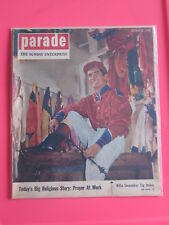 WILLIE SHOEMAKER jockey PARADE magazine SUNDAY ENTERPRISE October 10, 1954