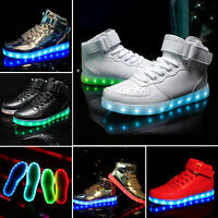 2016 NEW High Top Sports Shoes 7 Led Light Lace Up sneaker Luminous Casual Shoes