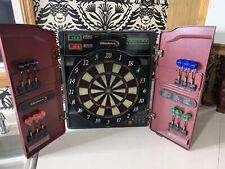 Vintage Halex 8 Player Electronic Dart Board w/ Cabinet 64582 Tournament X0-1