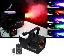 Rockville R1200L Fog/Smoke Machine w LED Lights/Strobe, 7 Channel DMX+2 Remotes