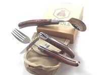 LAGUIOLE,Camping Outdoor-Besteck mit Messer Gabel, Löffel und Grürteltasche  Neu