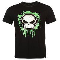 No Fear Core Logo Graphic T-Shirt Mens Black Casual Wear Top Tee Shirt