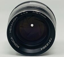 Rare Vintage Konica Hexanon 57mm f/1.4 Camera Lens - Japan
