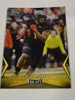 2018 Leaf Draft #14 D.J. Moore - Gold Rookie Card RC