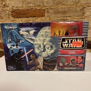 """Star Wars MicroMachines 97' Transforming Action Set """" Yoda-Planet Dagobah """" NIB"""