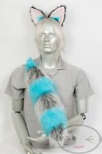 Fluffy Movie Cheshire Cat Tail and Ears Set Cosplay Accessories