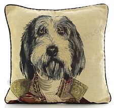 "Major Dog Tapestry 18"" Cushion Cover Retro Vintage Print Beige Red BNWT"