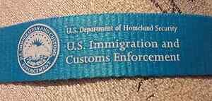 2 US Department Homeland Security Immigration Customs Enforcement ID Lanyard