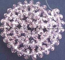 8x12mm Beautiful Rose Glass Quartz Roundel Faceted Bead