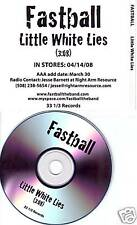 FASTBALL Little White Lies TST PRESS PROMO CD Single dj