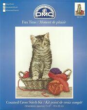 NEW DMC CATS FUN TIME COUNTED CROSS STITCH KIT 18x23cm BK1435