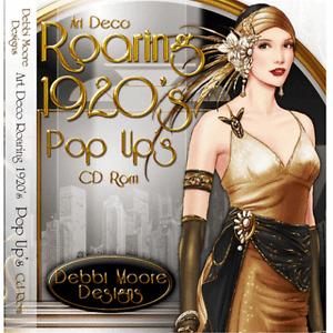 1 x Debbi Moore Designs Art Deco Roaring 1920's Pop Up's CD Rom (294647)