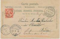 SCHWEIZ ORTSSTEMPEL BASEL / BRF.EXP K2 1899 Mondschein-Farblitho n BADENWEILER