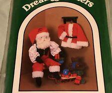 "NICHOLAS 30"" FOLK SANTA DOLL w CLOTHES + Small Bead Bag Teddy Bear Christmas"