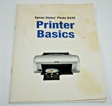 Genuine Epson Stylus Photo R220 Printer Basics Manual Owners Booklet