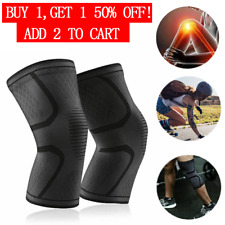 Knee Sleeve Compression Brace Support Gear Joint Pain Relief Elastic Protection
