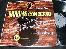 ISAAC STERN Brahms Violin Concerto D Major Sir Thomas BEECHAM Columbia 6-eye LP