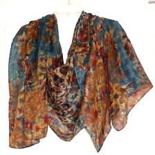 Vivante by VSA Elegant  Design Light  two sided wrap/shawl 100% Soft Polyester!