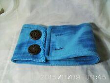 NECK WARMER SCARF Small FLEECE button up winter blue Dog Cat rabbit