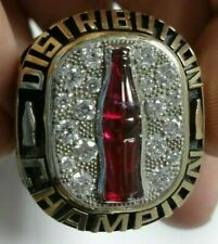 Coca-Cola Ring 2015 10k Yellow Gold McLamb Bottling Distribution Champion Coke