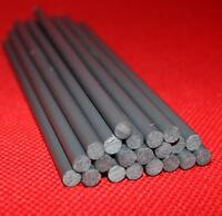 5x PVC Kunststoff Rundstab dunkelgrau Ø 6mm x 150mm Kunststoff Stange Stab Stäbe