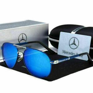 Mercedes AMG Men's UV400 Sunglasses Sport Driving Golf Outdoor Aviator Glasses