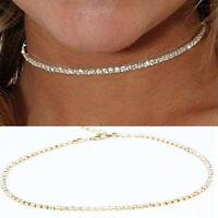 Fashion Women Crystal Bib Collar Choker Necklace Rhinestone Pendant Jewelry New