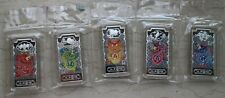 2012 China 5 x 20g Colorized Silver Bars / Medals - Lunar Year of the Dragon