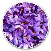 2 x Vinyl Stickers 10cm - Pretty Purple Saffron Flowers Cool Gift #3630