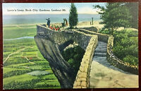 1940's Postcard Lover's Leap Rock City Gardens Lookout Mt Georgia