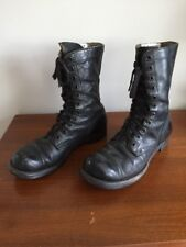 Vintage WW2 Cap Toe Combat Jump Boots Size 9R MA Black with Private's Name