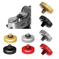 Brass Concave Shutter Release Button Rubber Ring for Fujifilm Leica Nikon Sony