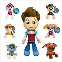 Paw Patrol Ryder Chase Zuma Rocky Marshall MS Racer Pup Plush Doll Gift