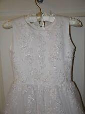 Joan Calabrese Mon Cheri Flower Girl Communion Dress Size 8 White Style 110325
