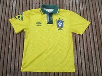 VINTAGE Maillot BRESIL Umbro WORLD CUP USA 94 camiseta shrit jersey kid 10 ans