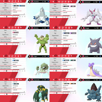 Pokemon Sword & Shield Shiny 6IV Gigantamax Bundle!! Duraludon,Grimmsnarl!