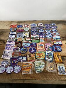 Vintage 1960s-90s Lot of 65 WIBC WWBA USBC Bowling Patches Northwest