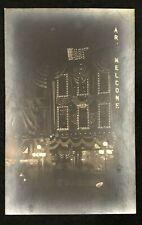 RPPC LEBANON, PA LIGHTS  AND FLAG DECORATED BUILDING DAWSON W LIGHT WINDOW