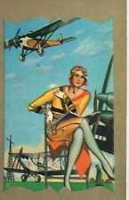 Riproduzione Cartolina Donne e Moda 1930 Italia Donna con occhiali da aviatore