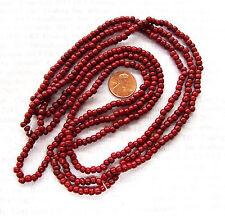 Antique Original Ox Blood Mahogany Pony Trade Bead  Italy  F&I Rendezvous V 26