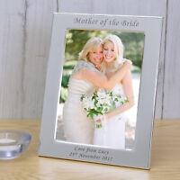 PERSONALISED WEDDING Silver Photo Frame Groom Bride Parents Bestman Bridesmaid