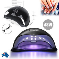 Black 48W SUN5 LED Nail Light Lamp UV Nail Dryer Curing Gel Polish Timer AU Plug